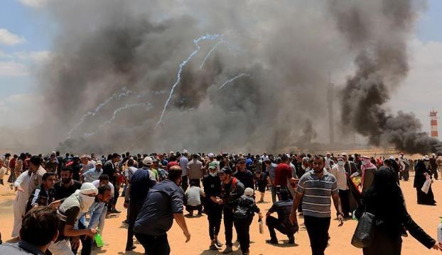 Gazzedeki gösterilerde 59 Filistinli şehit oldu