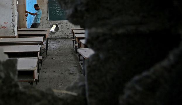 İsrailden Gazzedeki bir okula füze saldırısı