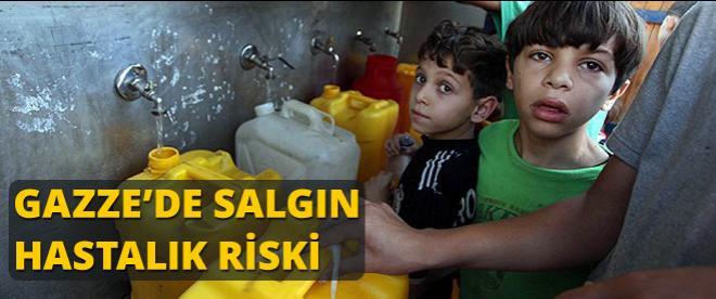 Gazze'de salgın hastalık riski