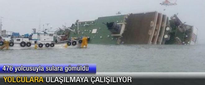 Gemi sulara gömüldü