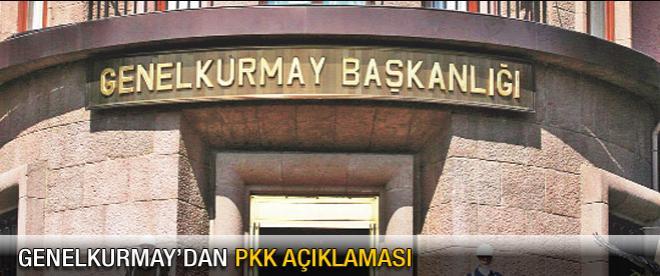 Genelkurmay'dan PKK açıklaması!