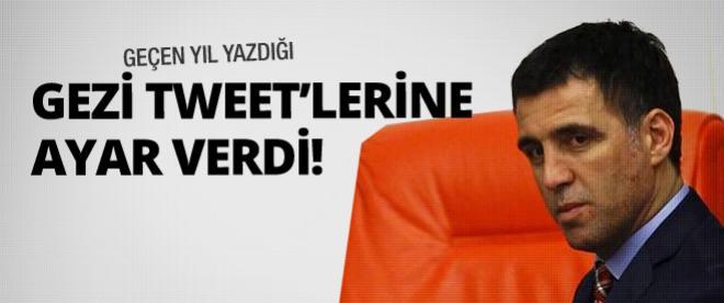 Hakan Şükür'ün 'Gezi' tweet'lerine ayar verdi