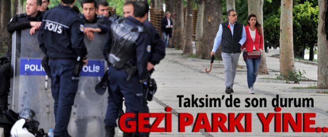 Gezi olaylarının yıldönümünde Taksim'de yoğun güvenlik önlemleri