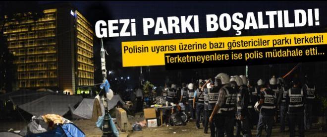 Taksim'de ve Gezi Parkı'na müdahale edildi