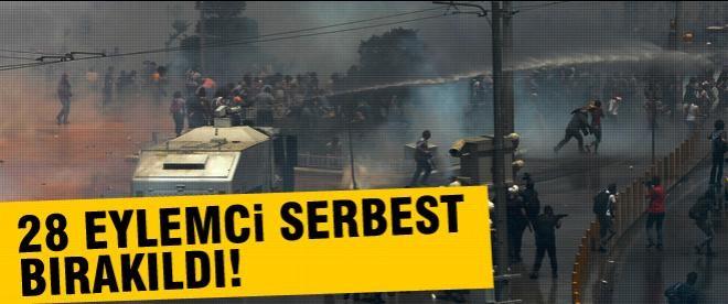 28 Gezi eylemcisi serbest bırakıldı