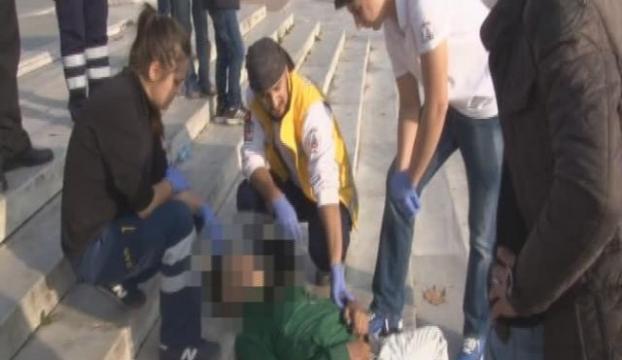 Gezi Parkı merdivenlerinde bulundu
