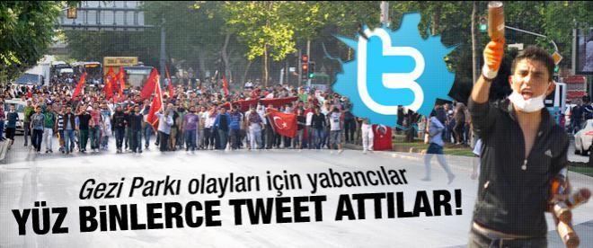 Gezi Parkı için yabancılar yüzbinlerce Twit attı