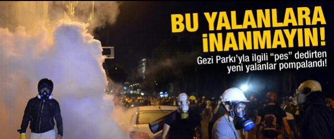 Yeni Gezi Parkı yalanları ortaya çıktı!