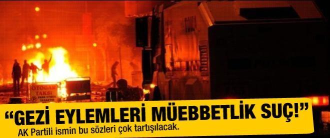 """""""Gezi eylemleri müebbetlik suç"""""""