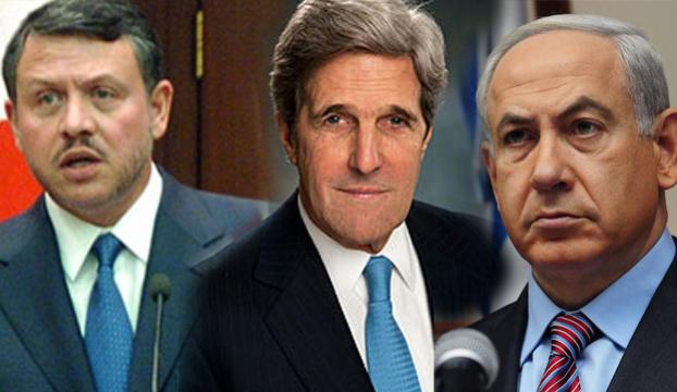Kral Abdullah, Kerry ve Netanyahu ile görüştü