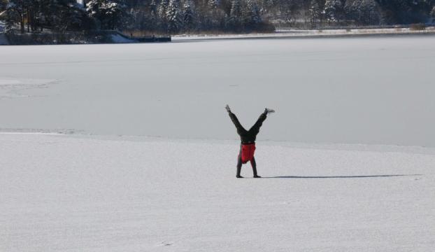 Gölcük ve Abant Gölü buz tuttu