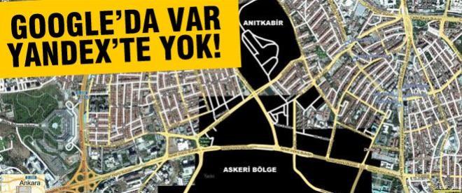 Google'da açık Yandex'te kapalı