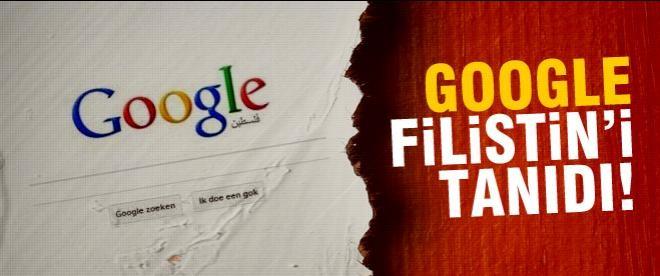 Google Filistin'i tanıdı