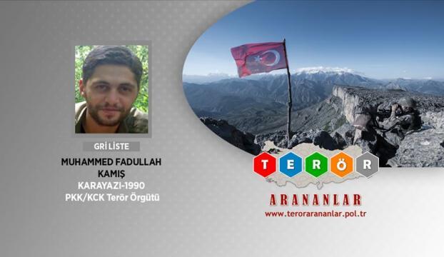 Gri kategoride bulunan terörist Erzurumda yakalandı