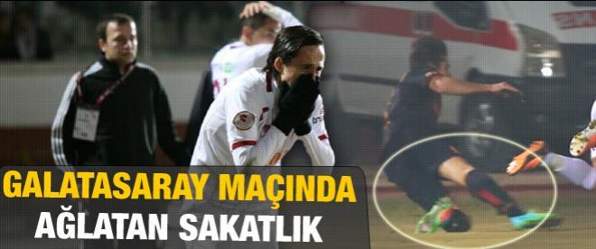 Galatasaraylı yıldızın ayağı kırıldı