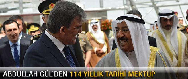 Cumhurbaşkanı Gül'den tarihi mektup