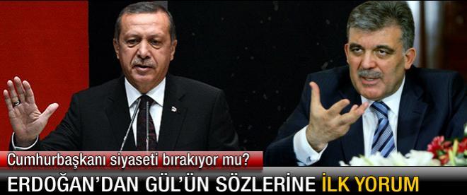 Başbakan'dan Gül'ün sözlerine ilk yorum