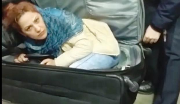 Gürcistanlı kadın valiz içinde Türkiyeye girmeye çalıştı