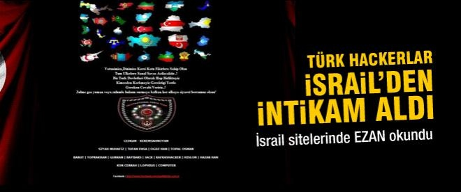 Hackerlar İsrail'den intikam aldı