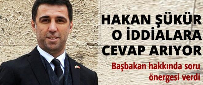 Hakan Şükür'den Başbakan hakkında soru önergesi