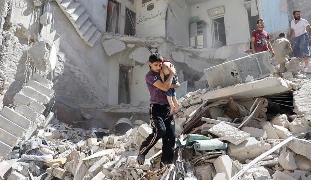 Halepte 100den fazla çocuk mahsur