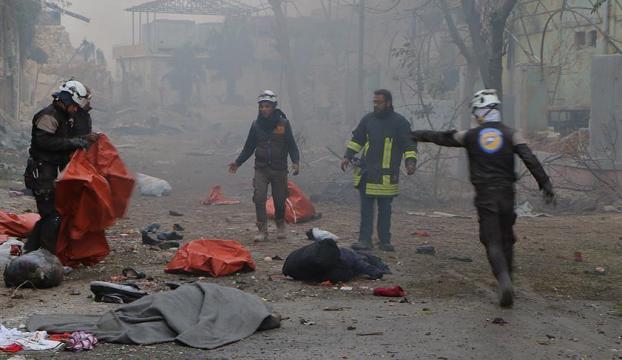 Halepte sivil katliam devam ediyor