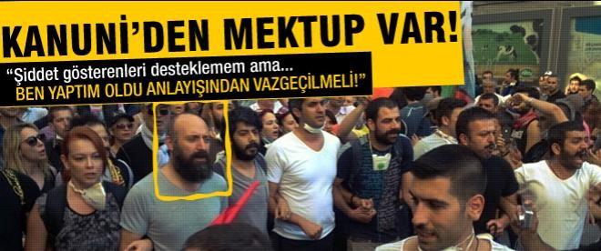 Halit Ergenç'ten Taksim mektubu
