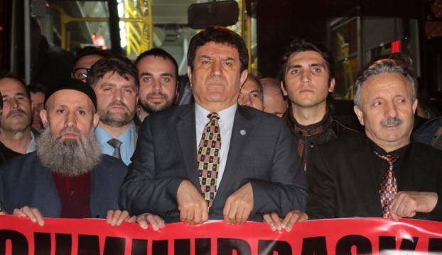 İstanbulda özel halk otobüsü işletmecilerinden eylem