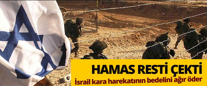 Hamas'tan katil İsrail'e gözdağı