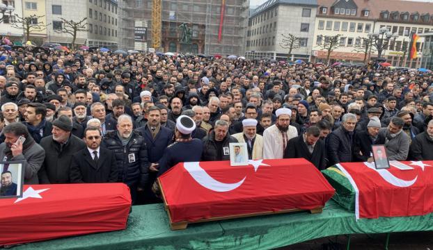 Hanaudaki ırkçı terör kurbanları için cenaze töreni düzenlendi