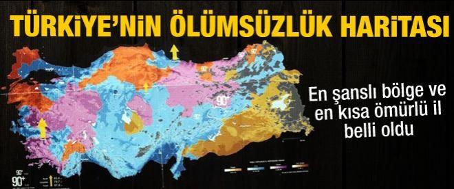 Türkiye'nin ölümsüzlük haritası