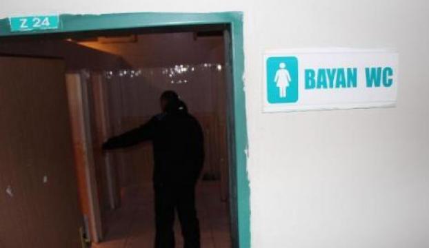 Hastane tuvaletinde şok eden olay!