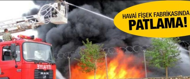 Havai fişek fabrikasında patlama!