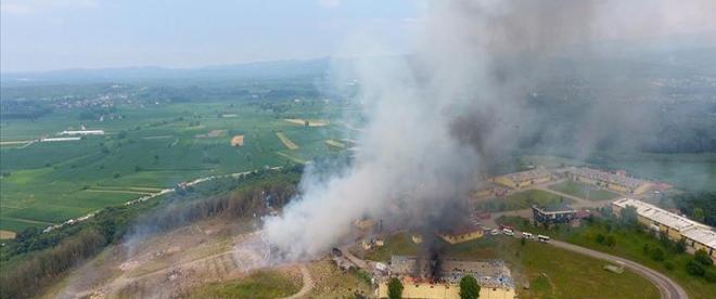 Sakaryada havai fişek fabrikasındaki patlama