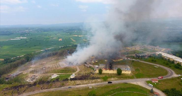 Sakarya'da havai fişek fabrikasındaki patlama