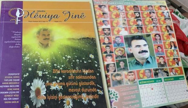 Terörist fotoğraflarının yer aldığı HDP takvimi