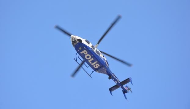 Antalyada şehir girişlerine helikopterli denetim