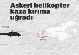 Bingöl'den kalkan askeri helikopter kaza kırıma uğradı: 11 şehit