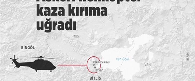 Bingölden kalkan askeri helikopter kaza kırıma uğradı: 11 şehit
