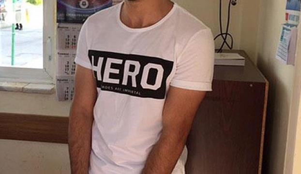 """Erzurumda """"Hero"""" yazılı tişörtü giyen 2 kişiye gözaltı"""
