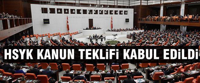 HSYK Kanun Teklifi kabul edildi