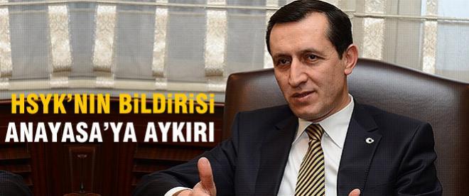 HSYK'nın açıklaması Anayasa'ya aykırı