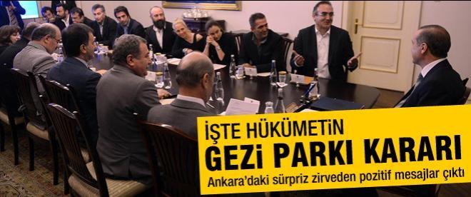 Hükümetten önemli 'Gezi' adımı!