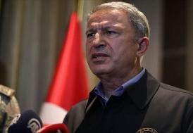 """Bakan Akar : """"Nato müttefiklerimiz..., PKK/YPG terör örgütüne karşı aynı kararlı duruşu göstermemiştir"""""""