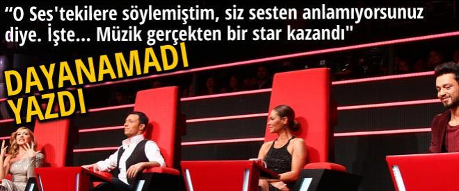 Hülya Avşar'dan O ses Türkiye tweeti