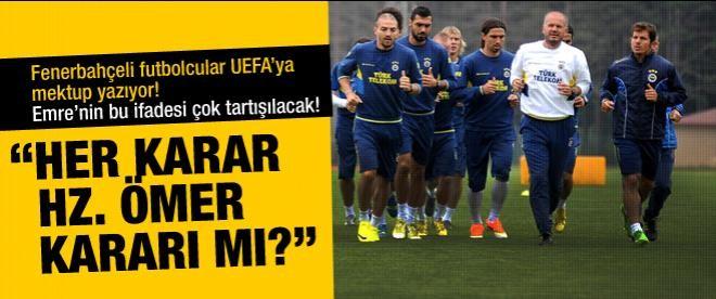Futbolcular UEFA'ya mektup yazacak
