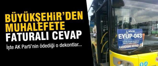 Büyükşehir'den muhalefete faturalı cevap