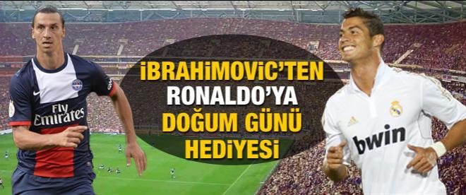 İbrahimovic'den Ronaldo'ya doğum günü jesti
