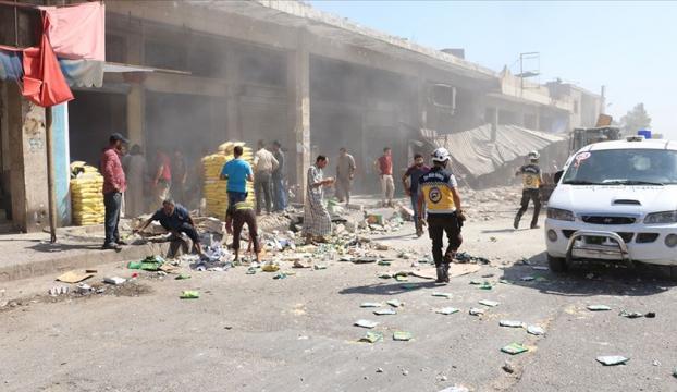 İdlibe Esed rejimi ve Ruslardan hava saldırısı