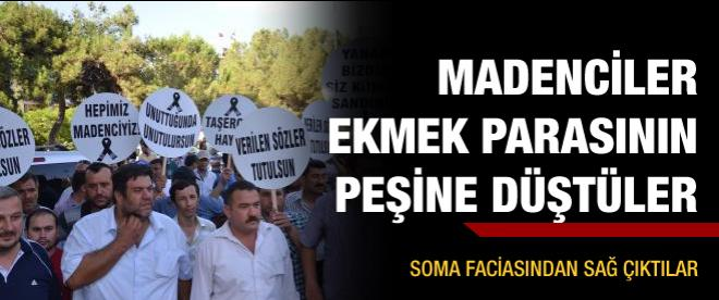 Somalı madenciler eylem yaptı